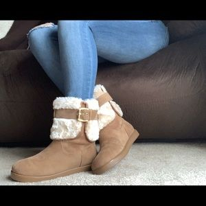 G by Guess Aussie Boots - Chestnut